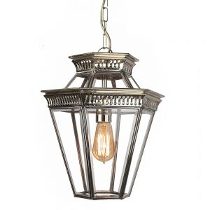 Bevelled Glass Nickel Plated Solid Brass 1 Light Pendant
