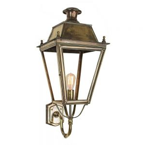 Balmoral Solid Brass Large Exterior Wall Lantern