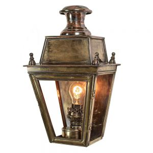 Balmoral Large Solid Brass Exterior Wall Lantern