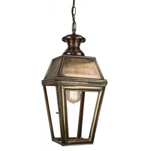 Kensington Solid Brass Exterior 1 Light Porch Lantern