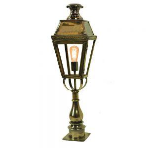 Kensington Solid Brass Exterior 1 Light Pillar Lantern