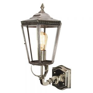 Chelsea Nickel Plated Solid Brass Exterior 1 Light Wall Lantern