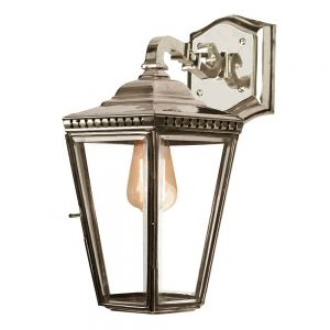 Chelsea Nickel Plated Solid Brass Exterior Hanging Wall Lantern
