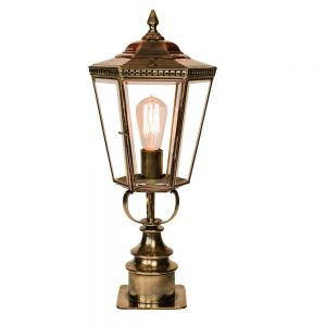 Chelsea Solid Brass Short Pillar Lamp