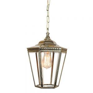 Chelsea Nickel Plated Solid Brass Exterior 1 Light Hanging Lantern