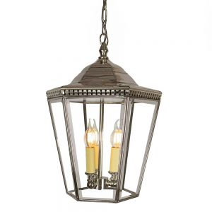 Chelsea Nickel Plated Solid Brass 3 Light Exterior Pendant
