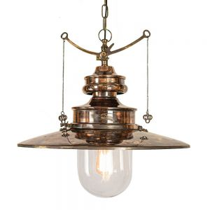 Large Paddington Solid Copper and Brass 1 Light Pendant