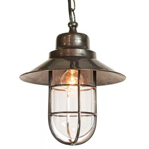 Wheelhouse Hanging Porch Lamp In Light Antique Solid Brass