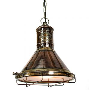 Freighter Solid Copper and Brass 1 Light Pendant