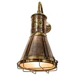 Freighter's Solid Copper and Brass 1 Light Wall Lamp