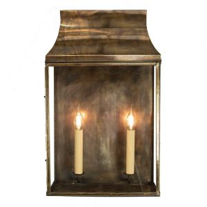 Strathmore Solid Brass 2 Light Exterior Wall Lantern