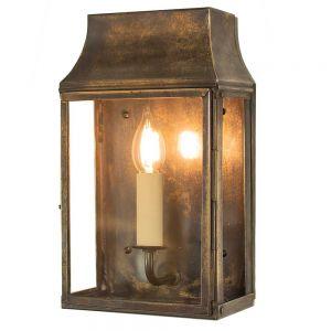 Strathmore Solid Brass 1 Light Exterior Wall Lantern