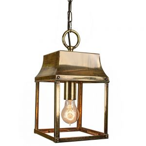 Strathmore Solid Brass 1 Light Hanging Lantern