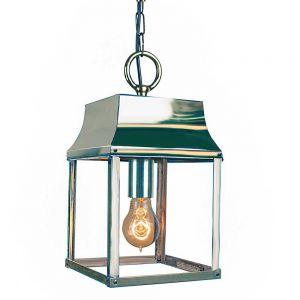 Strathmore Nickel Plated Solid Brass 1 Light Hanging Lantern
