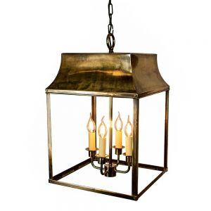 Strathmore Solid Brass 4 Light Hanging Lantern