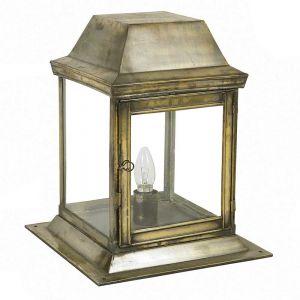 Strathmore Solid Brass 1 Light Exterior Gate Lantern