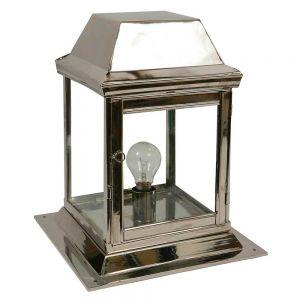 Strathmore Nickel Plated Solid Brass 1 Light Exterior Gate Lantern