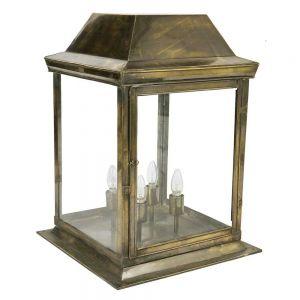 Strathmore Solid Brass 4 Light Exterior Large Gate Lantern