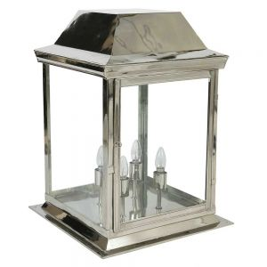 Strathmore Nickel Plated Solid Brass 4 Light Exterior Large Gate Lantern