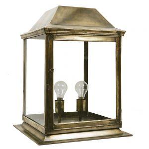 Strathmore Solid Brass 2 Light Exterior Medium Gate Lantern