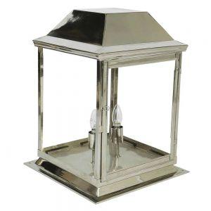 Strathmore Nickel Plated Solid Brass 2 Light Exterior Medium Gate Lantern