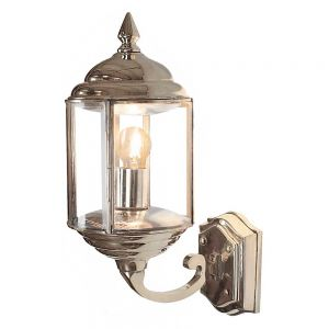 Wentworth Nickel Plated Solid Brass 1 Light Wall Lamp