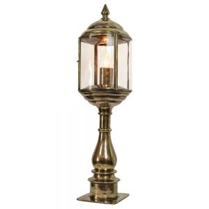 Wentworth Solid Brass 1 Light Pillar Lamp
