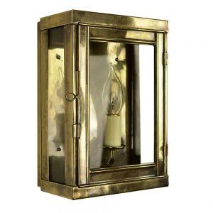 Oxbridge Solid Brass 1 Light  Box Lantern