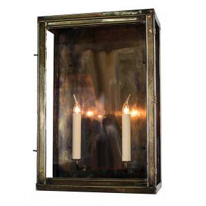Oxbridge Solid Brass 2 Light Wall Lantern