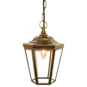 Windsor Solid Brass 1 Light Hanging Lantern Pendant