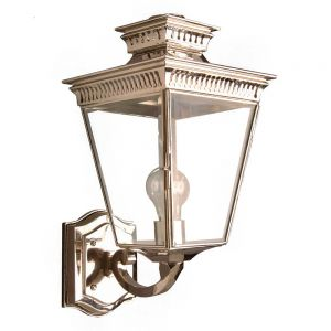 Pagoda Nickel Plated Solid Brass Outdoor Wall Lantern
