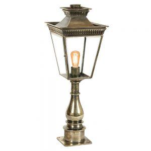 Pagoda Solid Brass Outdoor Pillar Lantern