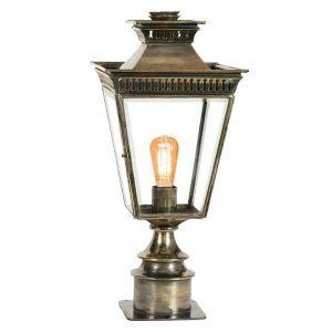 Pagoda Solid Brass Outdoor Short Pillar Lantern