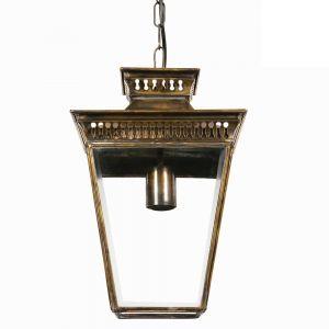 Pagoda Small Solid Brass Hanging Lantern