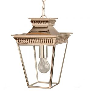 Pagoda Nickel Plated Solid Brass Lantern Small
