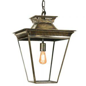 Pagoda Solid Brass Hanging Ceiling Lantern Medium