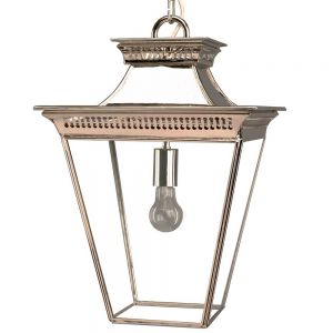 Pagoda Nickel Plated Solid Brass Lantern Medium