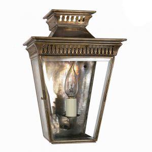 Pagoda Solid Brass Half Wall Lantern