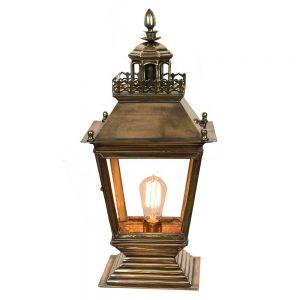 Chateau Solid Brass 1 Light Gate Lantern