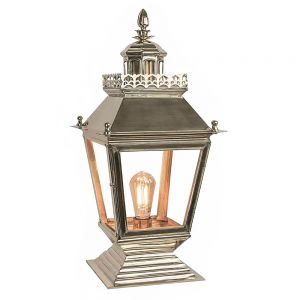 Chateau Nickel Plated Solid Brass 1 Light Gate Lantern