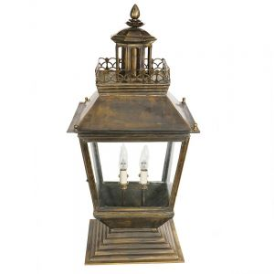 Chateau Large Solid Brass 4 Light Gate Lantern