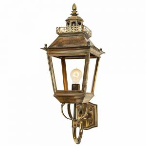 Chateau Solid Brass 1 Light Outdoor Wall Lantern