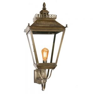 Chateau Large Solid Brass Large 1 Light Wall Lantern
