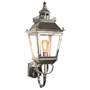 Chateau Nickel Plated Solid Brass 1 Light Wall Lantern