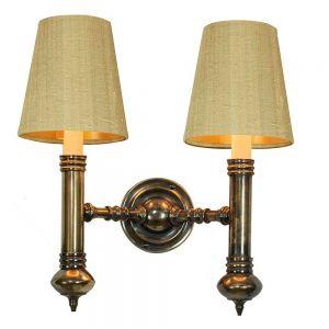 Carlton Solid Brass 2 Light Wall Light