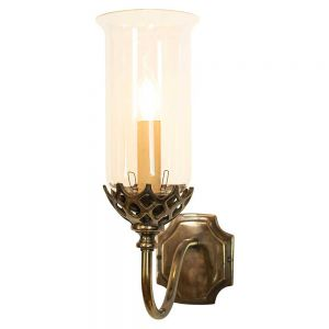 Gothic Solid Brass Period 1 Light Wall Light