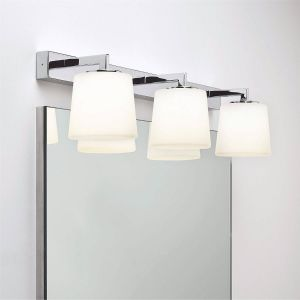 Triplex IP44 Polished Chrome Triple Light Bathroom Wall Light