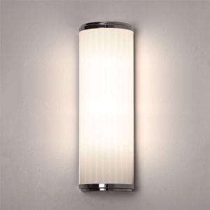 Monza IP44 Polished Chrome 40cm Bathroom Wall Light with Shade