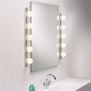 Cabaret IP44 Polished Chrome 5 Light Bathroom Wall Light