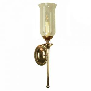 Grosvenor Solid Brass 1 Light Wall Light With Glass